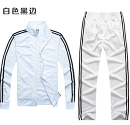 Wholesale Fashion Print Ads - Fall-Free shipping women   men's sports AD suits, high-quality sports jacket + pants two-piece. Fashion men track suit