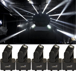 Wholesale Led Strobe Lights China - Wholesale-6xLOT DHL Free Shipping 10W 4in1 RGBW LED Mini Moving Head Beam Light Ultra Bright CREE lamp Stage DJ Show Home Party from China