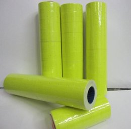 Wholesale retail pricing labels - Retail Yellow 3 Rolls 1200pcs Price Tag Paper Price Label Refill Adhesive for MX-5500 Price Tag Gun Lableller