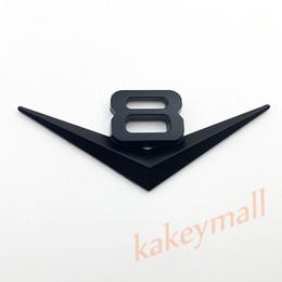 Wholesale Vehicle Trim - Black Style Car Vehicle Accessories Trim Chrome Metal 3D V8 V 8 Logo Emblem Badge Decal Sticker Decorate