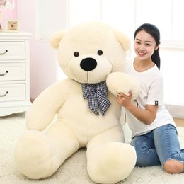 Wholesale Lover Bears - Giant teddy bear135 cm big stuffed toys for girl animals plush life size kid children baby dolls lover toy valentine gift lovely