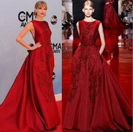 Wholesale Dhgate Red Wedding Dress - 2016 DHgate burgundy wedding dresses ball gown elie saab real images wedding gowns appliques beaded formal red carpet dresses