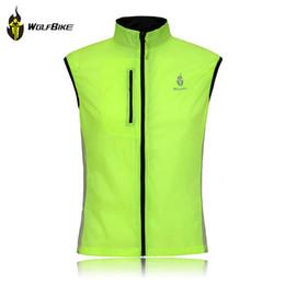 Новые Мужчины Велоспорт Жилет Пальто Ветрозащитный Рукавов Светоотражающая Куртка Спорт Верхняя Одежда Пальто Работает Спорт Зеленый Жилет K2011 cheap green cycling vest от Поставщики зеленый велосипедный жилет