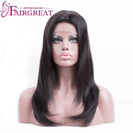 """Wholesale Indian Remy Full Lace - Fairgreat 150% Density Straight Human Hair Lace Front Wigs For Black Women Non Remy 10""""-20"""" No Tangle and Shed Hair Wholesale price"""