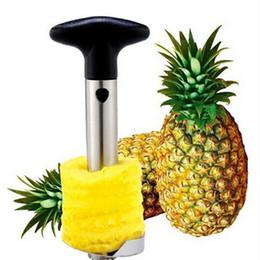 2019 accesorios de piña Pelador de piña de acero inoxidable para accesorios de cocina Rebanadores de piña Cuchillo de fruta cortador Herramientas de cocina y cocina en stock WX-C43 accesorios de piña baratos