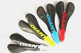 Wholesale Giant Saddle - New GIANT Carbon Saddle Full Carbon Fibre Cycling MTB Road Bike Seat Bicyle Parts Free Shipping