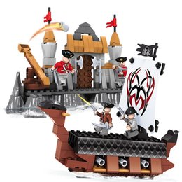 Wholesale Toy Building Block Pirates - Boy Toys for Kids Pirates of The Caribbean Building Blocks Compatible Lepine Friends Model Bricks with Legoe Pirate Ship Blocks