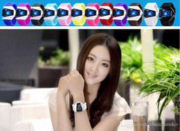 Wholesale Airplane Shape Watches - Fashions LED Colorful Aircraft watches Plastic Case 5 ATM Digital Airplane Shaped Watch Men Sports Military Watches Free DHL