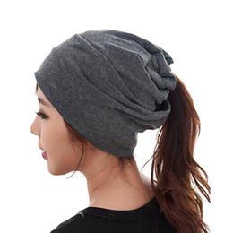 Wholesale Grey Scarf Skull - 2016 Women spring winter Hats gorras wool knitted headband hat turban scarf beanies female fashion cap man letters hats mz061