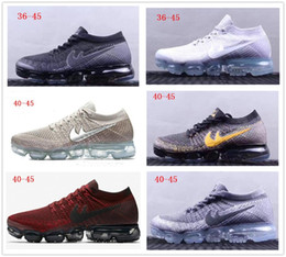 Wholesale rubber full sole - Many colors Air Vapor 2018 mens sports shoes Full Crusion Sole women outdoor running sneaker shoes breathable tennis footwear size 40-45