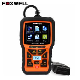 Wholesale Universal Auto Scanner Multi Language - 2017 OBD2 Auto Diagnostic Scanner Foxwell NT301 Multi-languages Engine Analyzer Read Clear Fault Code Reader Scan Tool Universal
