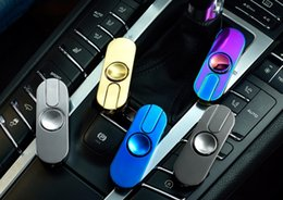 Wholesale Electronic Cigarettes Sets Lights - 10pcs set High-quality Hand Spinner Creative Electronic USB Rechargeable LED Light Cigarette Lighter With Nice Box Great Gift (5 colors)