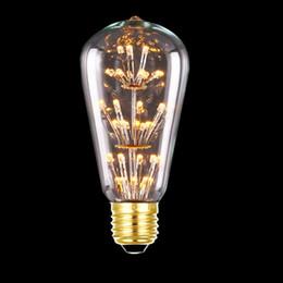 3W ST64 LED Filamento Lâmpada E27 Amarelo Quente Branco Edison Lâmpadas 2200K Esquilo Gaiola Estilo Vintage Substituir Lâmpada Incandescente cheap replacing incandescent bulbs de Fornecedores de substituindo lâmpadas incandescentes