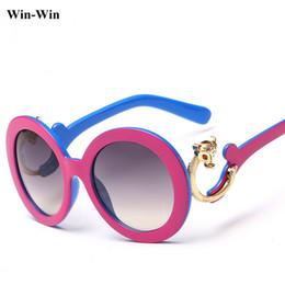 Wholesale Foxed Mirror - Wholesale-2015 7 Color Round Big Frame Fox Metal Leg Glasses New Vintage Fashion Summer Style Cool Sunglasses Women Brand Designer Glass