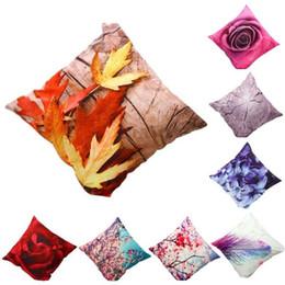 fundas de asientos de lujo Rebajas Cojín caliente de lujo ventas Cubierta Funda de almohada Textiles para el Hogar suministra la flor de la impresión 3D Sofá decorativa tiro asiento de la silla almohadas