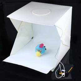 difusor de luz softbox Rebajas Freeshipping El más nuevo Mini portátil de estudio fotográfico Telón de fondo de la fotografía Luz de la foto incorporada Diseño plegable