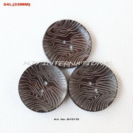 Wholesale China Wholesale Buttons - (60pcs lot) Personalized Wooden buttons bulk supplies China crafts toy accessories sewing button large 35mmL-BY0170