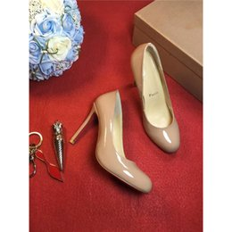 Wholesale Red Suede Pumps - Highest Version Christian Red Bottoms High-Heeled Shoes Luxury Brand 2017Louboutin Red Bottoms Women Designer Suede Dress Shoes Studded