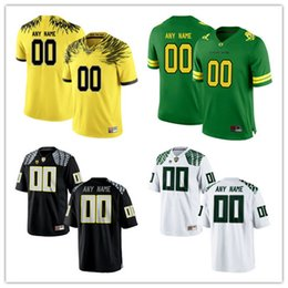 Wholesale Oregon Ducks Green - Mens Oregon Ducks Custom Stitched College Jerseys 3 6 8 21 24 Apple Green Black Pro White Electric Yellow Personalized Any Name Any Number