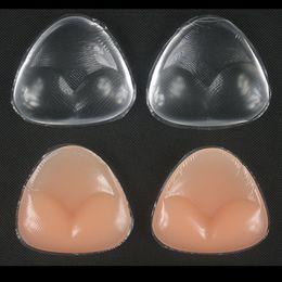 Inserto de la almohadilla del bikini del triángulo online-Sujetador de bikini suave Inserto de gel de silicona Inserciones Mejora de la escisión Triángulo Almohadillas Mejora Traje de baño Push-up
