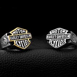Wholesale European Rings - Men's stainless steel, European and American locomotives, rings, wholesale, character, Harley rings, Davidson, jewelry
