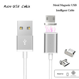 Wholesale Usb Champagne - Magnetic 2A Micro USB Charger Cable Adapter For Samsung S8 S7 Quick Charging
