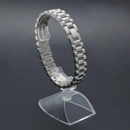 Bracelets plaqués or 24 carats en Ligne-24K plaqué or bracelet de bracelet de lien 22.5 cm * 1.5 cm en acier inoxydable style de président de la Couronne réglable mens hip-hop bracelet cool cadeau