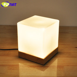 Wholesale Painting Small Rooms - FUMAT Small Table Lamp with Solid Base Glass Table Lamps Dimmer LED Night Light for Study Bedroom Beside Light