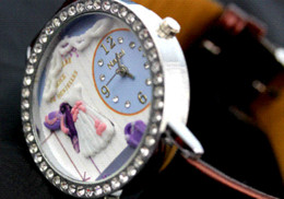 Wholesale Limited Edition Girls Dresses - Hot Selling Romantic Wedding fashion watches women rhinestones dress watches girl cartoon watch Fashion Watches Cheap Fashion Watches