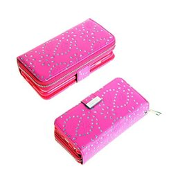 Wholesale Iphone Leather Purse - For iphone 7 8 Plus 6 6s 6 Plus 6s Plus 5SE 2 in 1 Multi-functional Glitter Flower Zipper Wallet Leather Purse With Magnetic Detachable Case