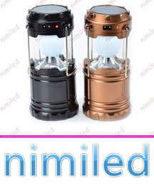 Wholesale Camping Outdoor Recreation - nimi1048 Flexible 9W Portable Light Outdoor Recreation USB Power Bank Charge Phones Ultra Bright Camping Lantern Solar Rechargeable Lamp