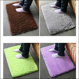 Wholesale Absorbent Doormat - BY DHL 200PCS Plush Velvet Slip Mats And Dust Doormat Absorbent Bathroom Floor Rug Washable Can Be Cleaned Bath Floor Rugs