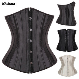 Wholesale Sexy Lingerie 4xl - Wholesale-X 26 Spiral Steel Boned Women Waist Trainer Cincher Shapewear Underbust Corsets and Bustiers Sexy Lingerie Top Plus Size S-6XL
