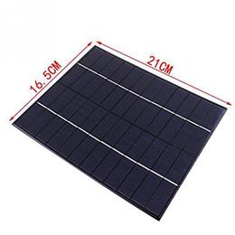 Wholesale Solar Cell Epoxy - Wholesale Xionel 5.2W 12V Mini Solar Panel Module Solar System kits Solar Epoxy Cells Charger DIY 210x165mm