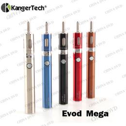 Wholesale Evod Tops - Authentic Kangertech Evod Mega Starter Kit 1900mah Battery 2.5ml Tank Electronic Cigarettes Vs Kanger Top Evod Dripbox Eleaf istick Ijust 2