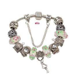 Wholesale Cheap Murano Glass Bracelets - Top Quality European Blue Murano Glass Beads Love Heart Pendant Charm Bracelet Free Shipping Cheap jewelry types