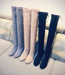 Wholesale Ladies Long Heel Shoes Fashion - New Arrival Fashion Women High Thin Heel Boots Sexy Overknee Lady Nice Boots Long Winter Boots Shoes Warm Boots For Female Flat Warm Slim Le