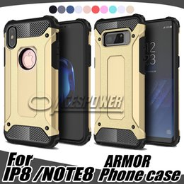 Wholesale Note Cover Hybrid - Hybrid Armor Cases For Iphone X Iphone7 google-pixel-X1 LG G6 V20 Moto G4 G5 Sammsung Galaxy Note 8 S8 Plus Cover