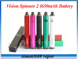 Wholesale Ego Cigarette Sales - 10pcs Sale Vision Spinner 2 II 1650mAh Ego twist 3.3-4.8V vision2 variable voltage vv battery for e cigs Electronic cigarette ego atomizer