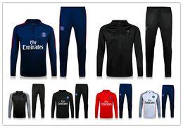 Wholesale Training Shirts Men - top thai quality 16 17 PSG jacket Training suit kits soccer Jersey 2016 DI MARIA CAVANI VERRATTI LUCAS PASTORE MATUIDI PSG football shirts