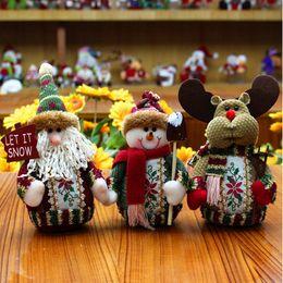 Wholesale Wholesale Santa Snowman Dolls - Christmas Tree Ornaments Santa Claus Snowman Deer Christmas Doll toy for Home Deocration Christmas Decoration Pendants Outside wholesale