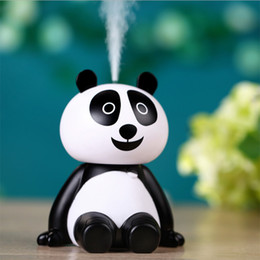 Wholesale Car Aromatherapy Diffuser Wholesale - Creative Panda Touch Air Humidifier Ultrasonic USB Diffuser Mist Maker Purifier Fogger Humidifier for Home Office Car Spa Gifts