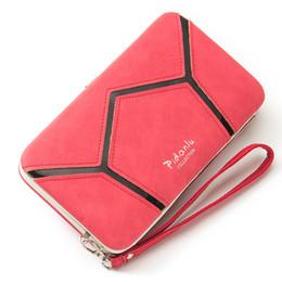 Wholesale Mobile Phone Pencil - New convenient mobile phone bag multi-purpose lunch box wallet ladies long geometric sequins matte pencil box holding handbag