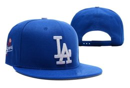 Wholesale Brown Leather Baseball - 2016 New Men's Los Angeles Dodgers Snapback Hats Team Logo Embroidery Sports Adjustable LA Baseball Caps Strapd Back Leather Hats
