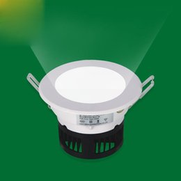 Wholesale Downlight Inch - Hot button-type round 2.5 inch   5W 8W 10W LED downlight wholesale home improvement exhibition hall embedded LED downlight
