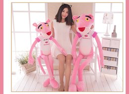 Wholesale Naughty Baby - 2017 new 40CM Cute Pink Naughty Leopard Pink Panther Plush Stuffed Toys Baby Kids Doll Brinquedos
