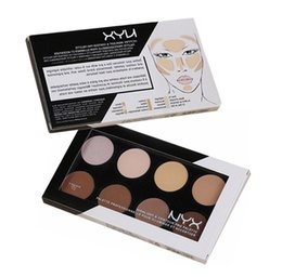 contour palettes branded Promo Codes - Brand Make Up NYX Highlight & Contour 8 colors Face Pressed Powder Palette Makeup Contour Kit Concealer Highlight & Bronzer Powder Cosmetics