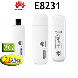 Wholesale Wifi Mifi 3g - Wholesale- Huawei E8231 3G White MOBILE WIFI HOTSPOT WIRELESS ROUTER MIFI DATA