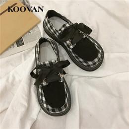 Wholesale Japanese Platforms Shoes - Koovan Casual Shoe Fashion Women Japanese Platform Shoes 2017 Hot Sale New Autumn Love White Shoes Flats Thick Bottom Student Ladies W373