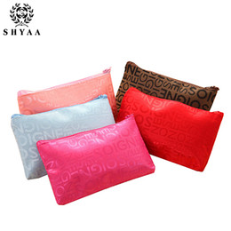 Wholesale Envelope Mini - SHYAA Hot Selling New Letter Cosmetic Bag Manufacturers Direct Sales Will Bring Women Bags Fashion Coin Purses 10pcs lot drop shipping